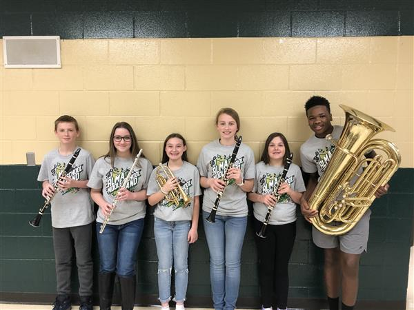 7th Grade All-Region Band members