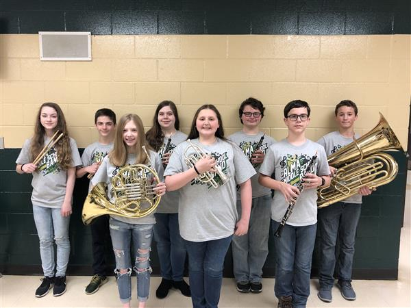 8th Grade All-Region Band members 2020