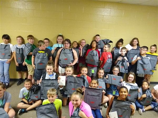 2019 Teen Tech Academy students with their ABB Swag bags