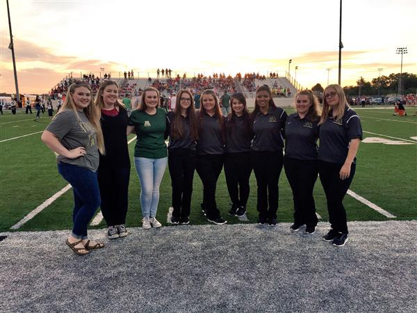 2017 AHS Football Athletic Training students and ALum