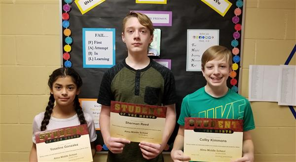 6th-Yoseline Gonzalez  7th-Colby Kimmons  8th-Sherman Reed